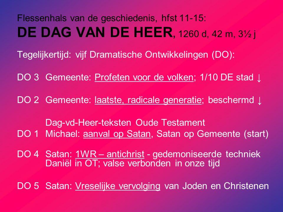 Flessenhals van de geschiedenis, hfst 11-15: DE DAG VAN DE HEER, 1260 d, 42 m, 3½ j