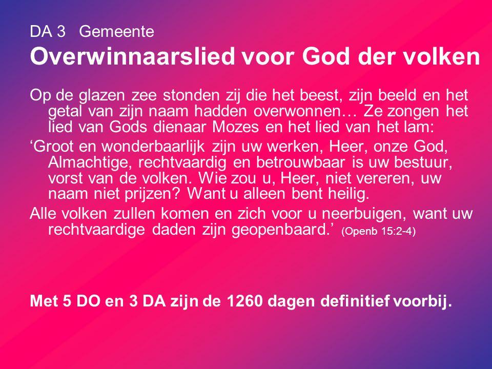 DA 3 Gemeente Overwinnaarslied voor God der volken