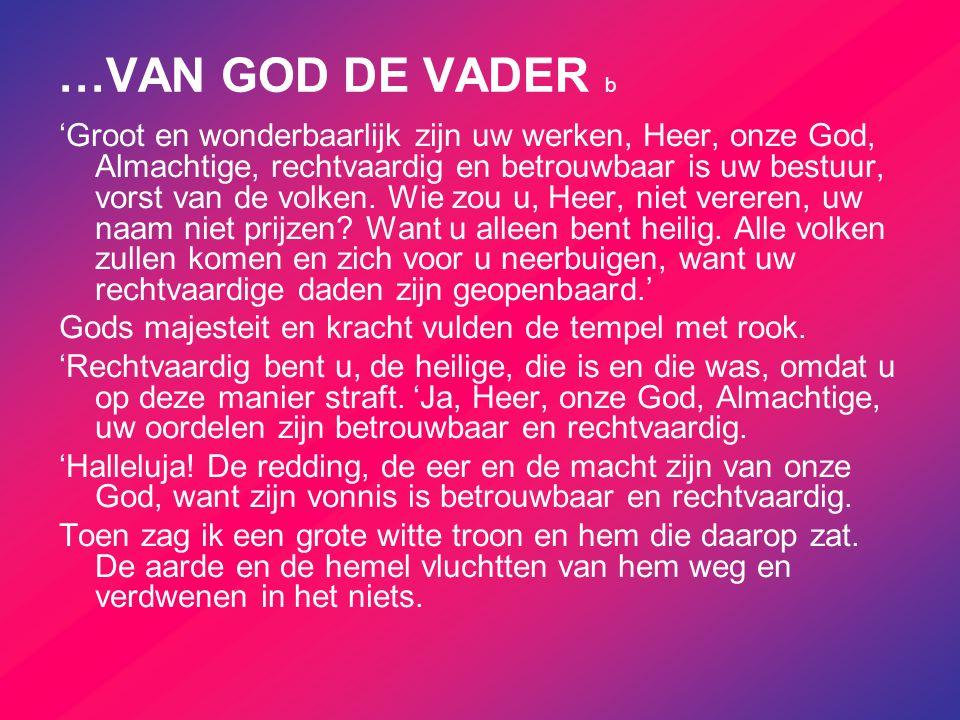…VAN GOD DE VADER b