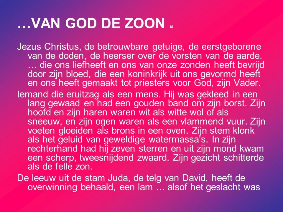 …VAN GOD DE ZOON a