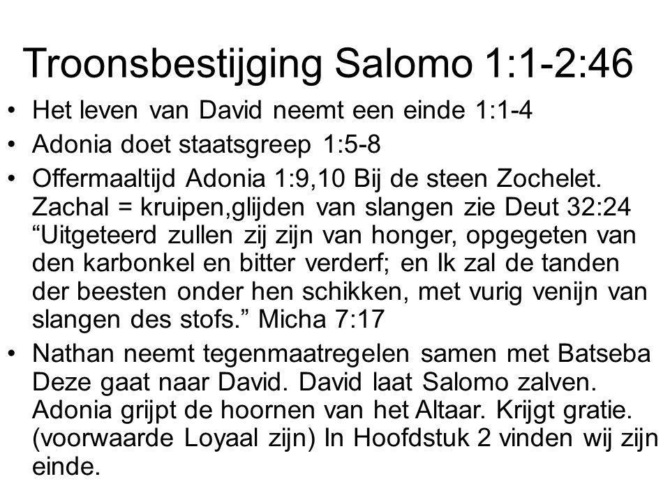 Troonsbestijging Salomo 1:1-2:46