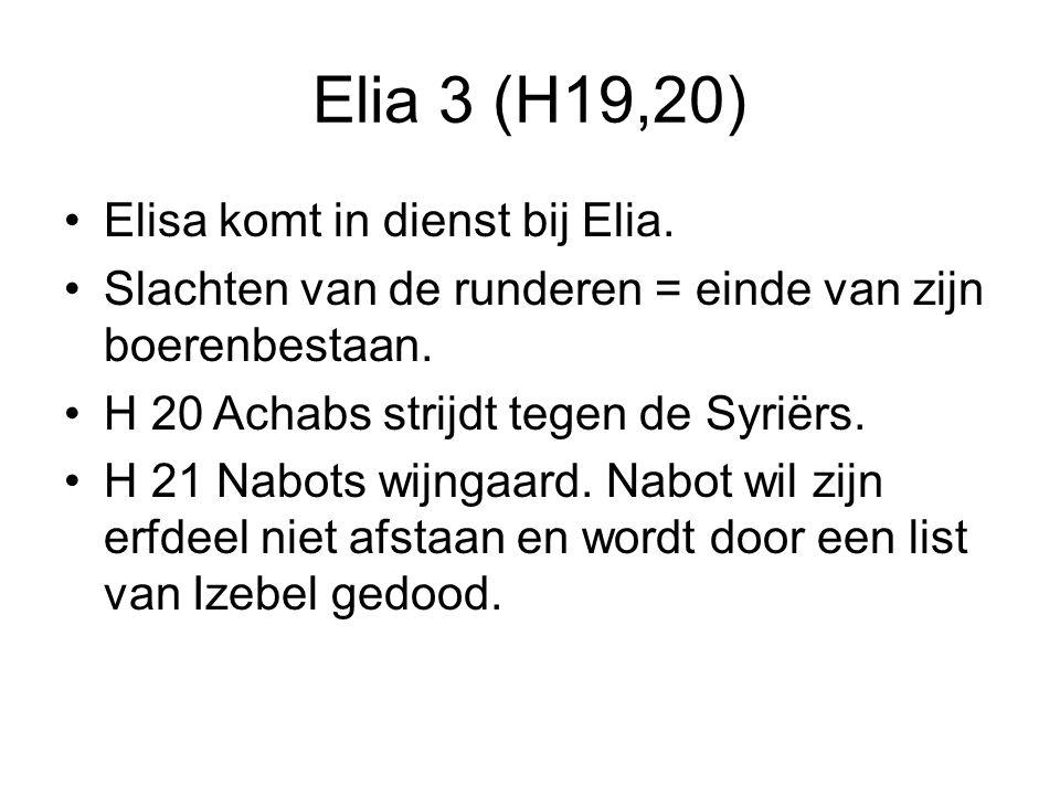 Elia 3 (H19,20) Elisa komt in dienst bij Elia.