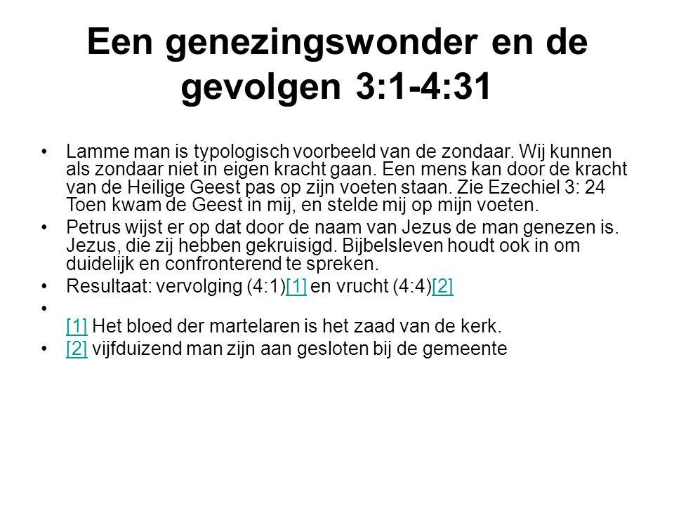 Een genezingswonder en de gevolgen 3:1-4:31