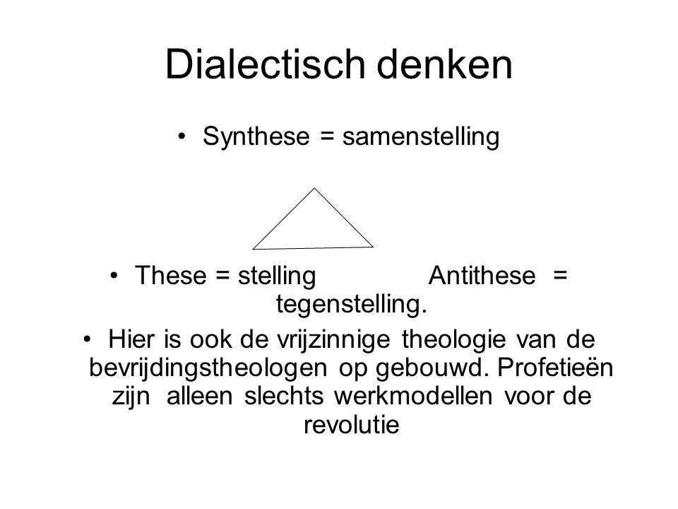 Dialectisch denken Synthese = samenstelling