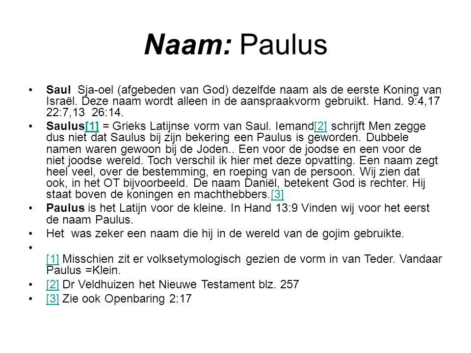 Naam: Paulus