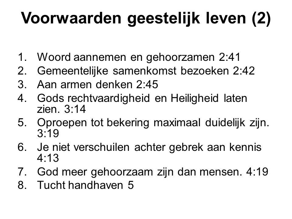 Voorwaarden geestelijk leven (2)