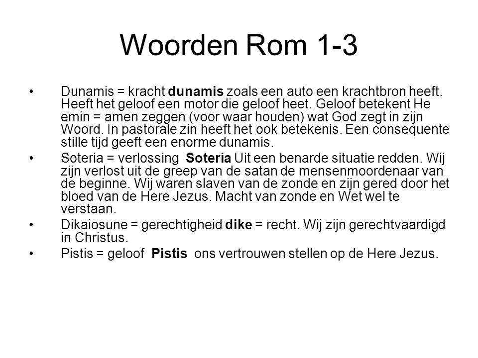 Woorden Rom 1-3