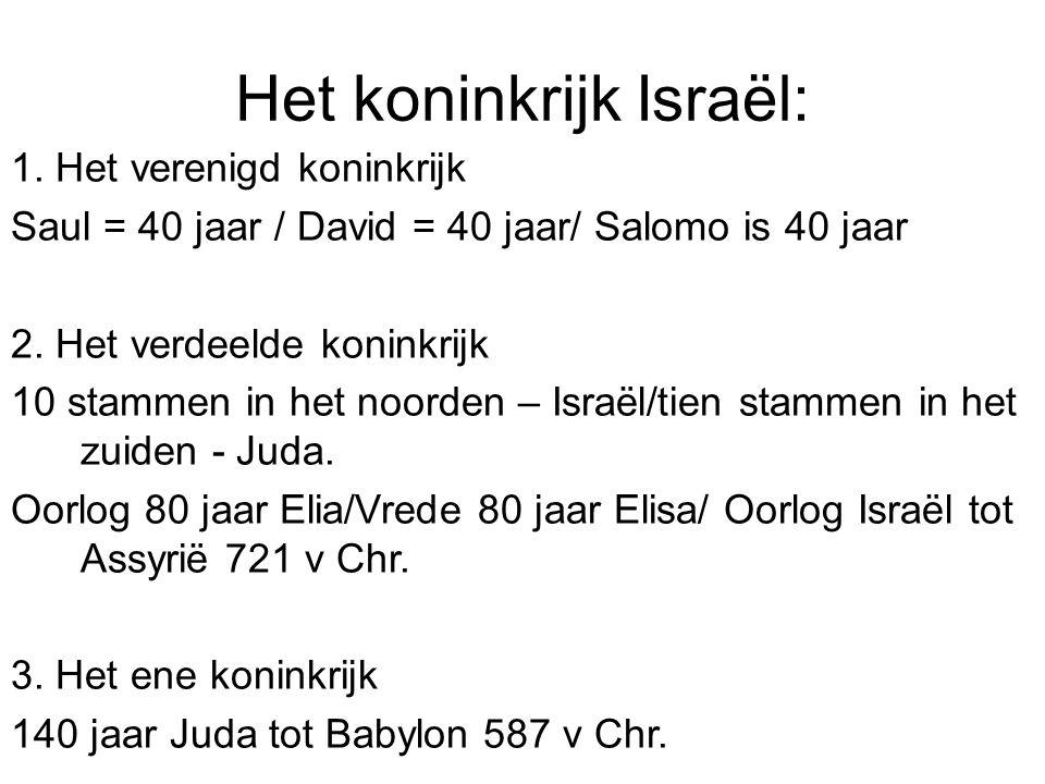 Het koninkrijk Israël: