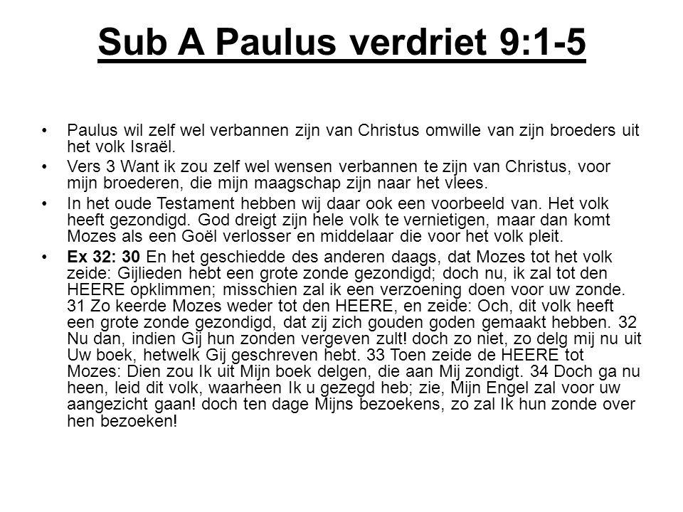 Sub A Paulus verdriet 9:1-5