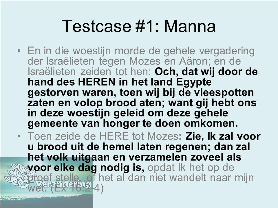 Testcase #1: Manna