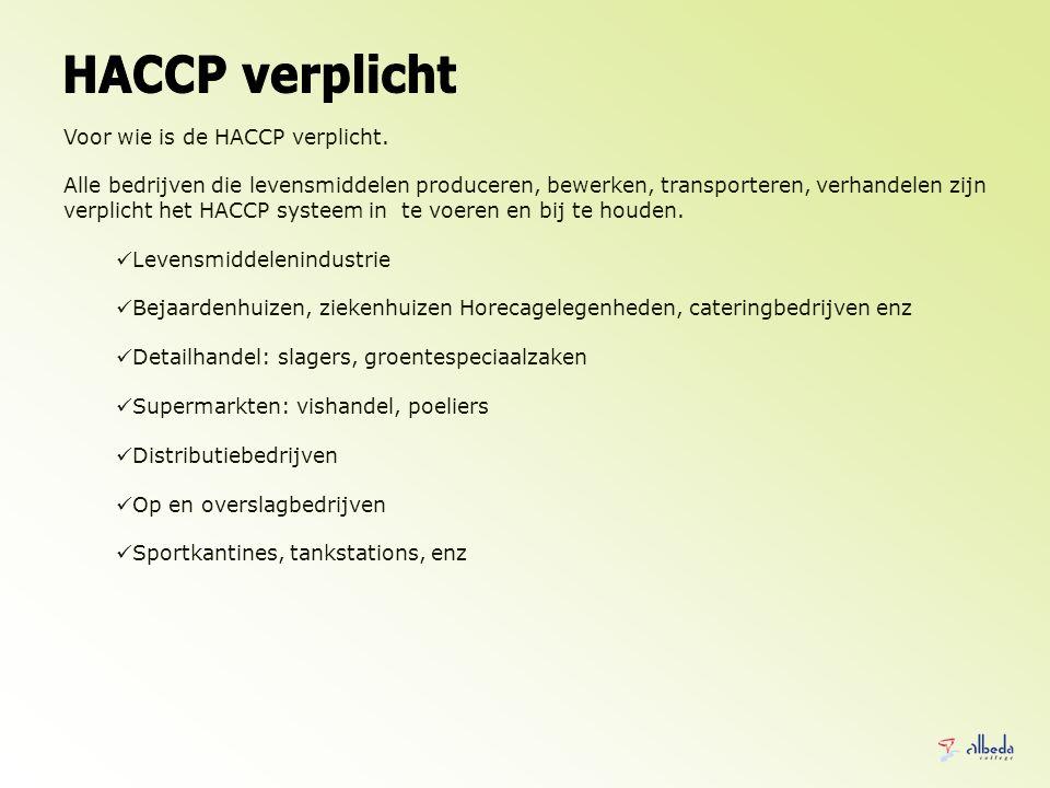HACCP verplicht Voor wie is de HACCP verplicht.