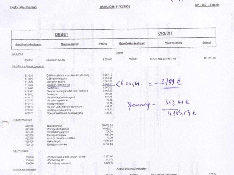 De klacht bij de procureur: fraude in boekhouding Exploit rek 2006 met sponsoring