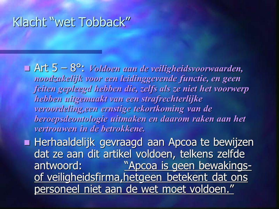 Klacht wet Tobback
