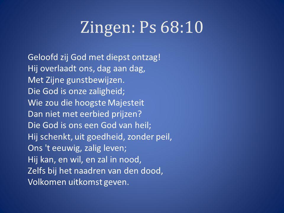 Zingen: Ps 68:10