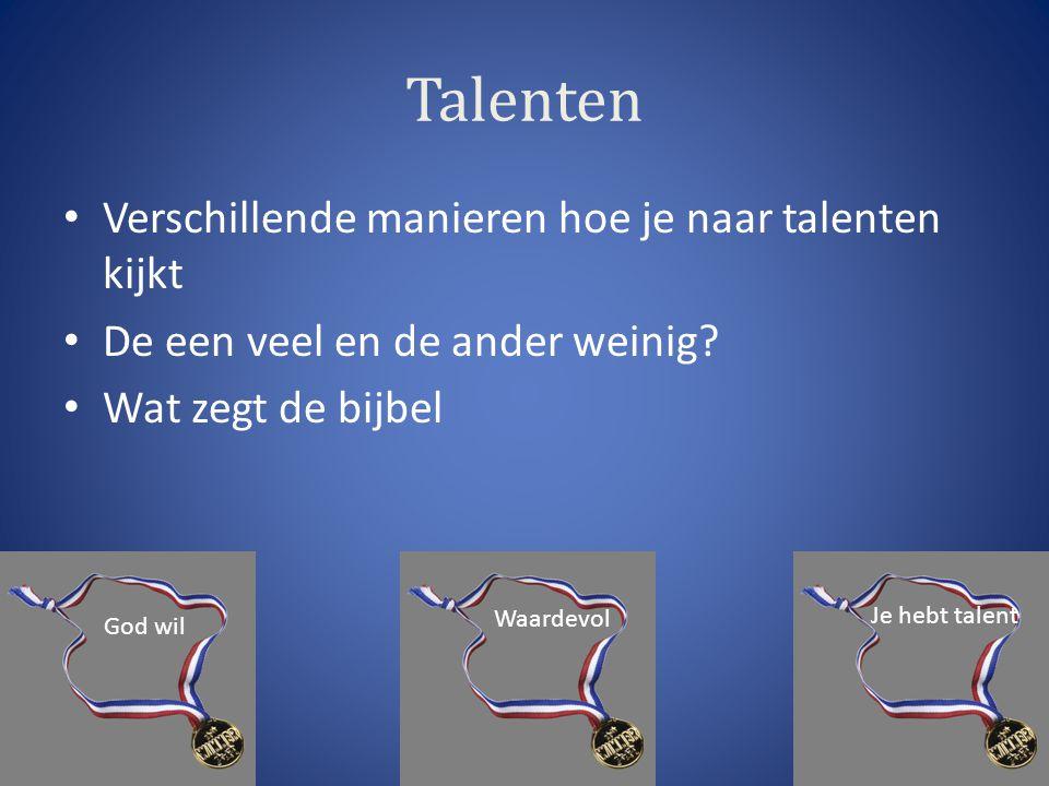 Talenten Verschillende manieren hoe je naar talenten kijkt