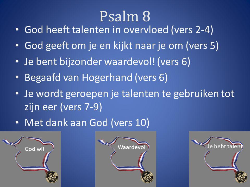 Psalm 8 God heeft talenten in overvloed (vers 2-4)