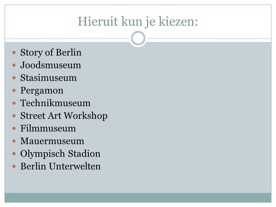 Hieruit kun je kiezen: Story of Berlin Joodsmuseum Stasimuseum
