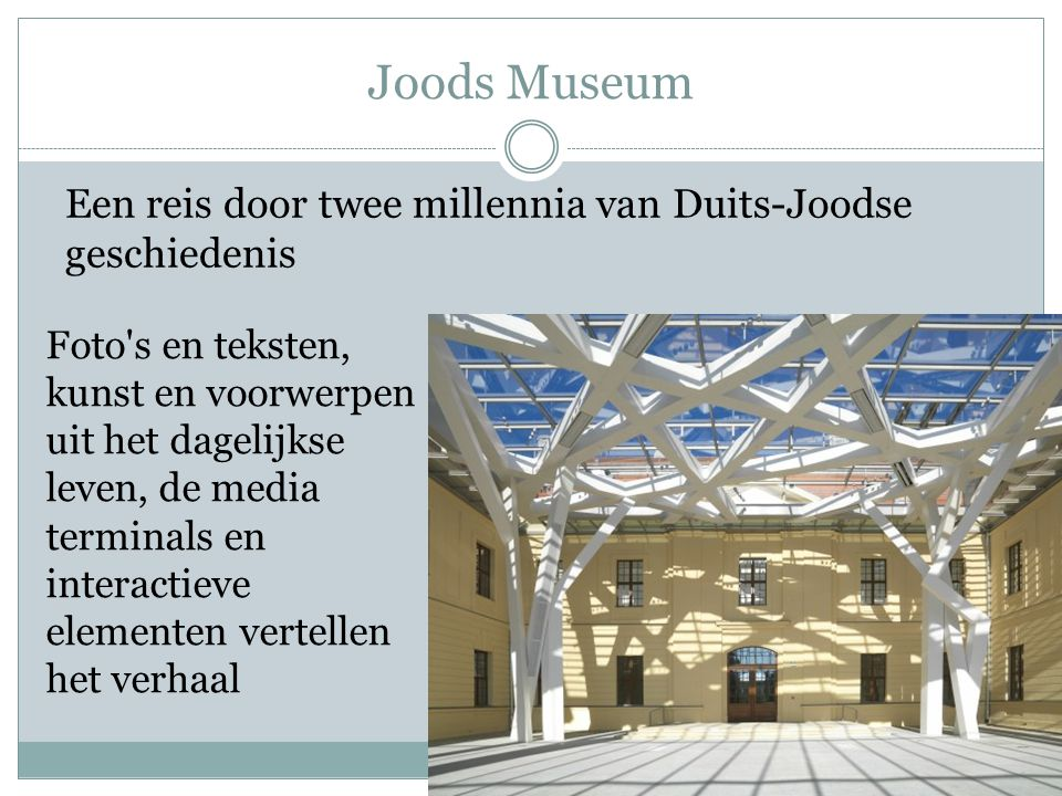 Joods Museum Een reis door twee millennia van Duits-Joodse geschiedenis.