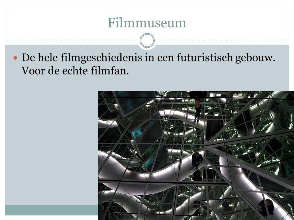 Filmmuseum De hele filmgeschiedenis in een futuristisch gebouw. Voor de echte filmfan.