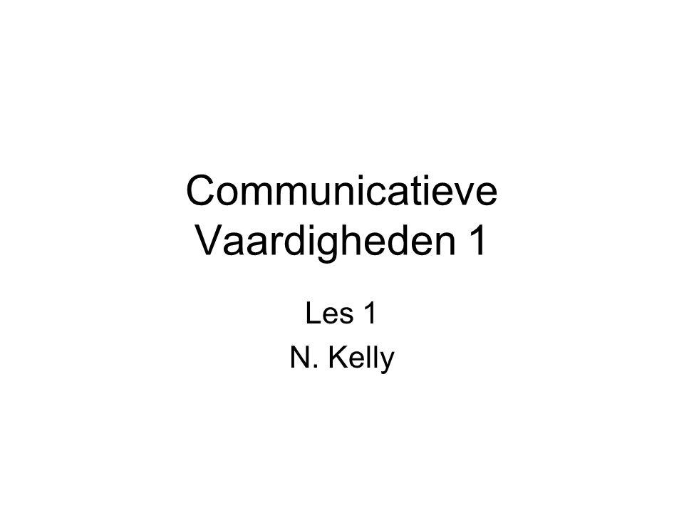 Communicatieve Vaardigheden 1