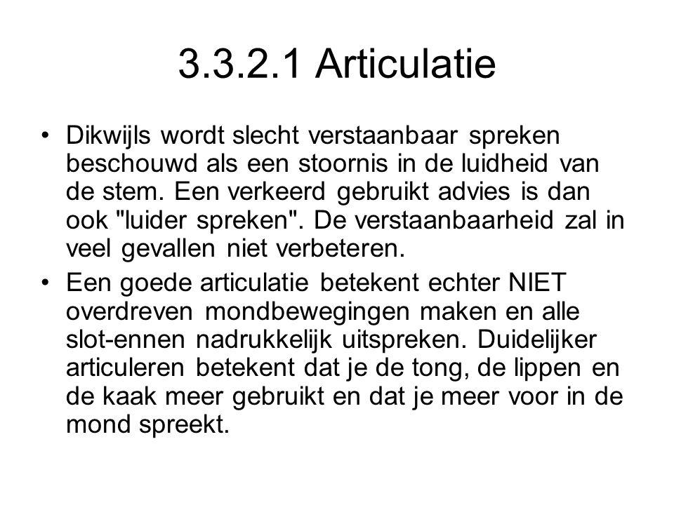 3.3.2.1 Articulatie