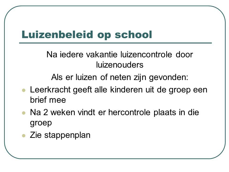 Luizenbeleid op school