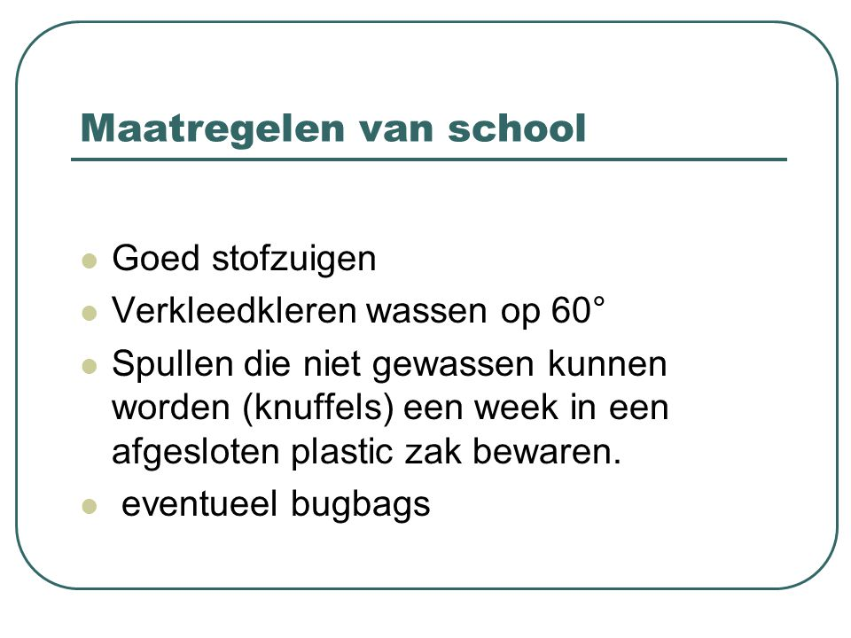 Maatregelen van school
