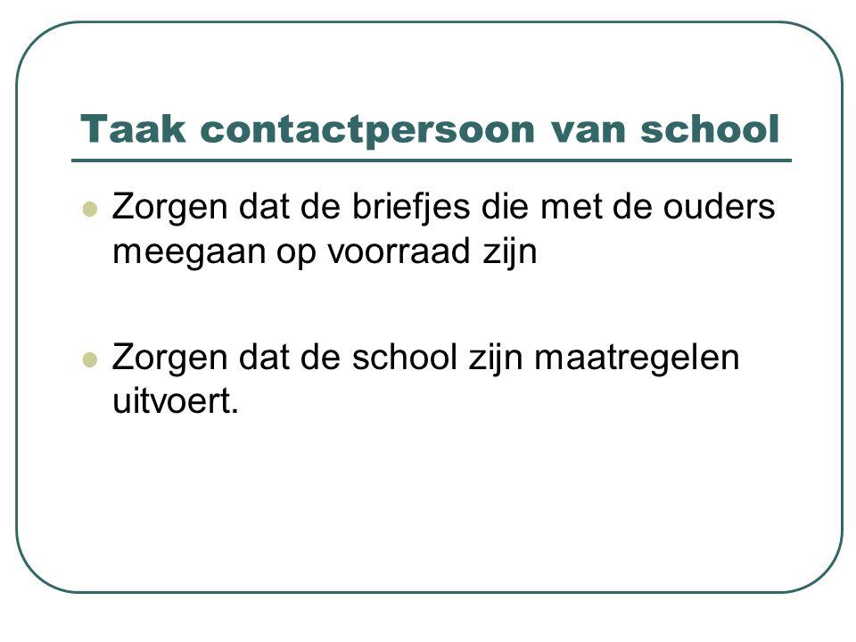 Taak contactpersoon van school