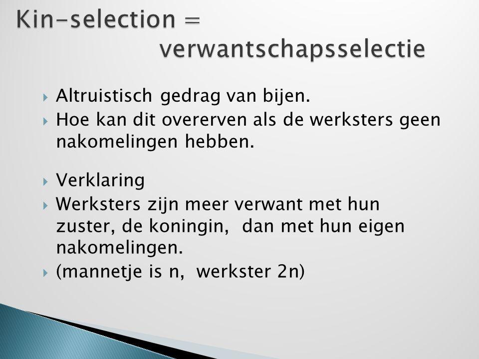 Kin-selection = verwantschapsselectie