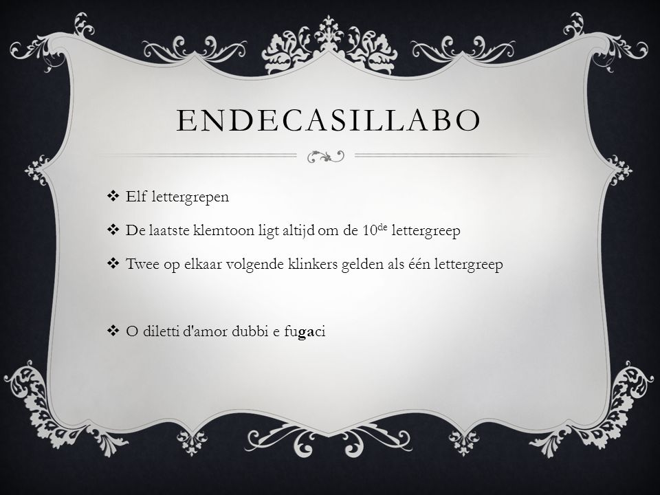 Endecasillabo Elf lettergrepen