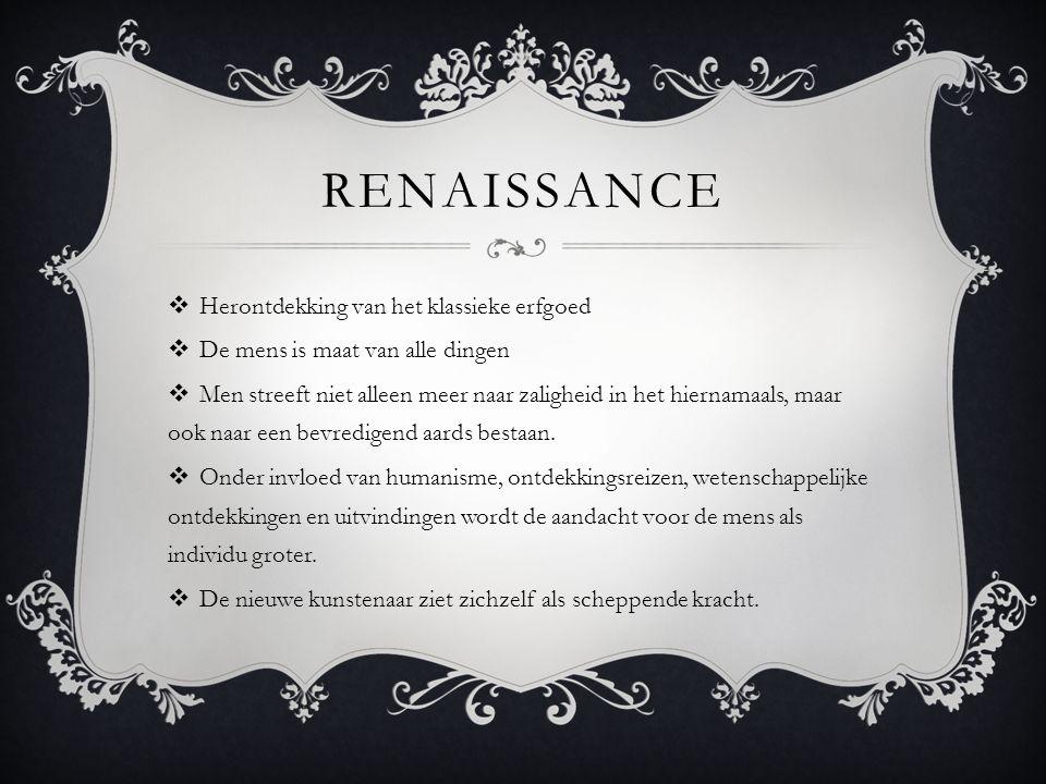 Renaissance Herontdekking van het klassieke erfgoed