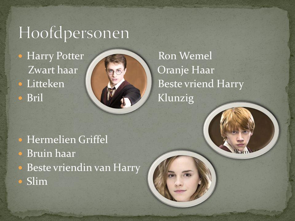 Hoofdpersonen Harry Potter Ron Wemel Zwart haar Oranje Haar