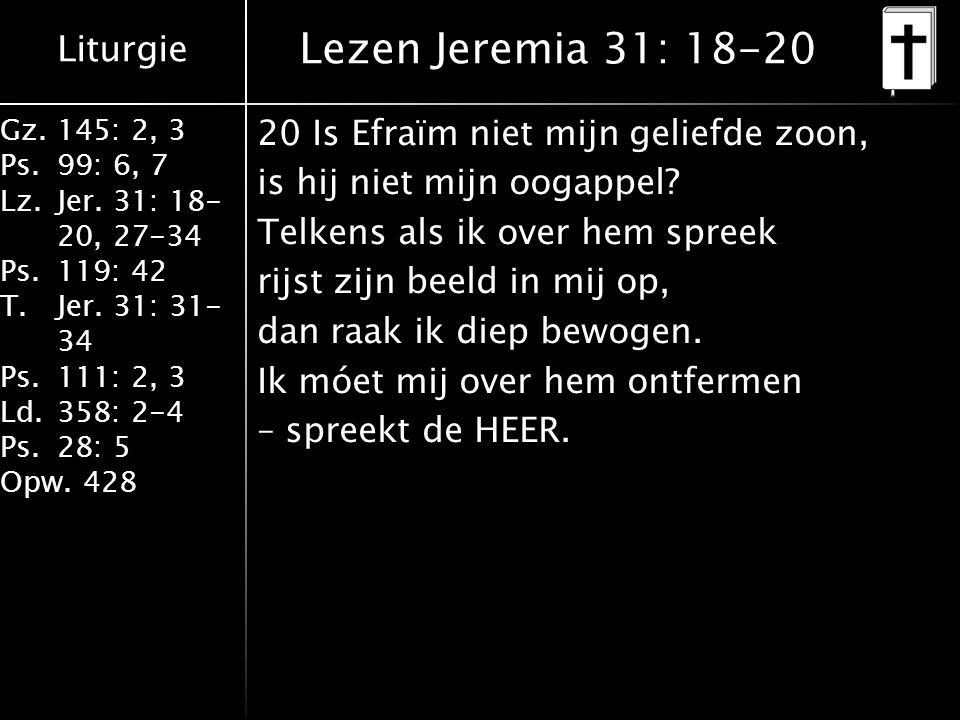 Lezen Jeremia 31: 18-20
