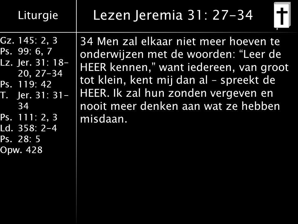 Lezen Jeremia 31: 27-34