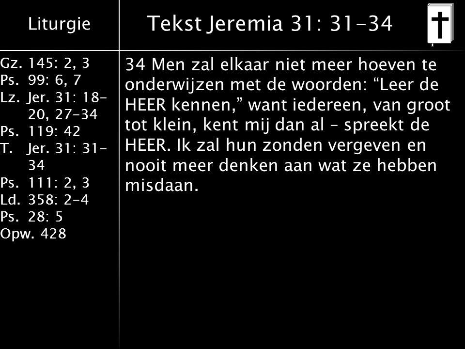 Tekst Jeremia 31: 31-34