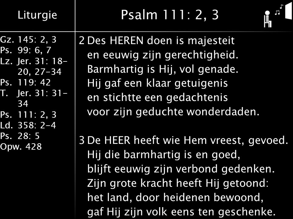 Psalm 111: 2, 3