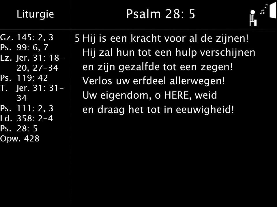 Psalm 28: 5