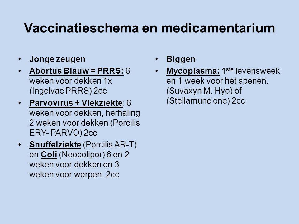 Vaccinatieschema en medicamentarium