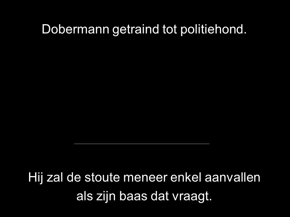 Dobermann getraind tot politiehond.