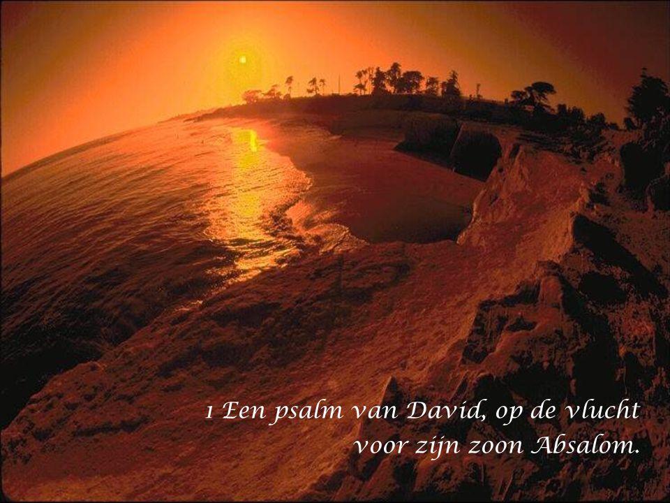 1 Een psalm van David, op de vlucht voor zijn zoon Absalom.