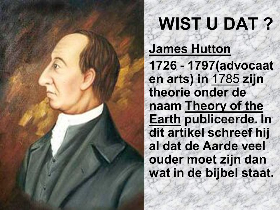 WIST U DAT James Hutton.