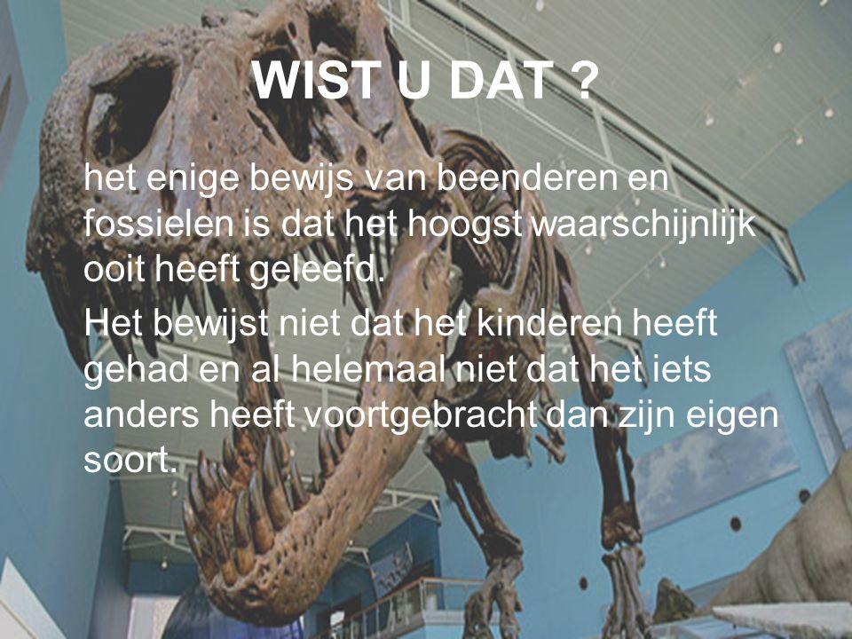 WIST U DAT het enige bewijs van beenderen en fossielen is dat het hoogst waarschijnlijk ooit heeft geleefd.