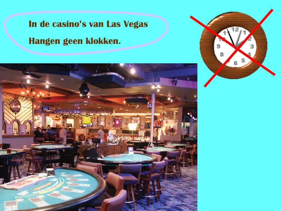 In de casino's van Las Vegas