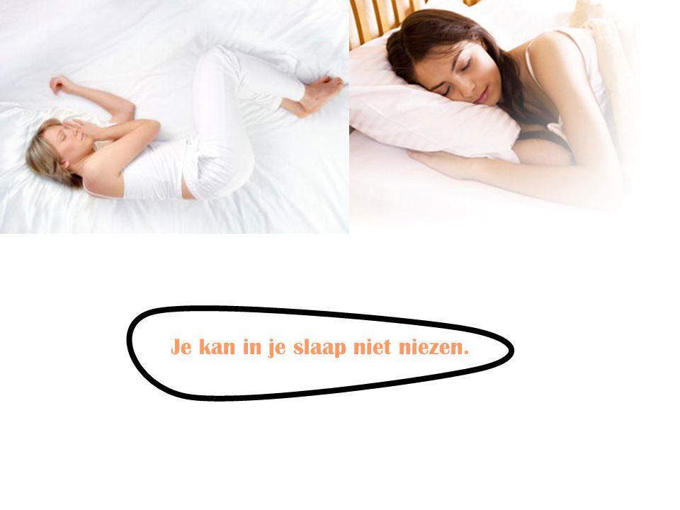 Je kan in je slaap niet niezen.