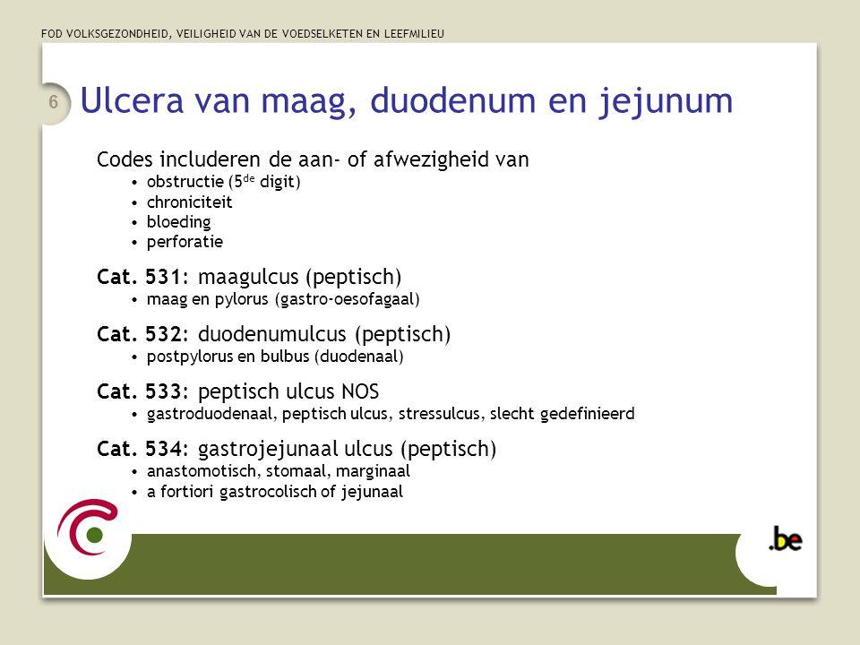 Ulcera van maag, duodenum en jejunum