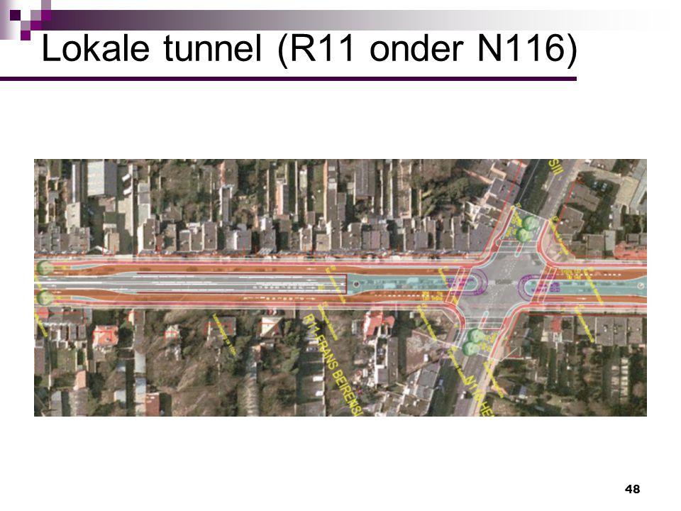 Lokale tunnel (R11 onder N116)