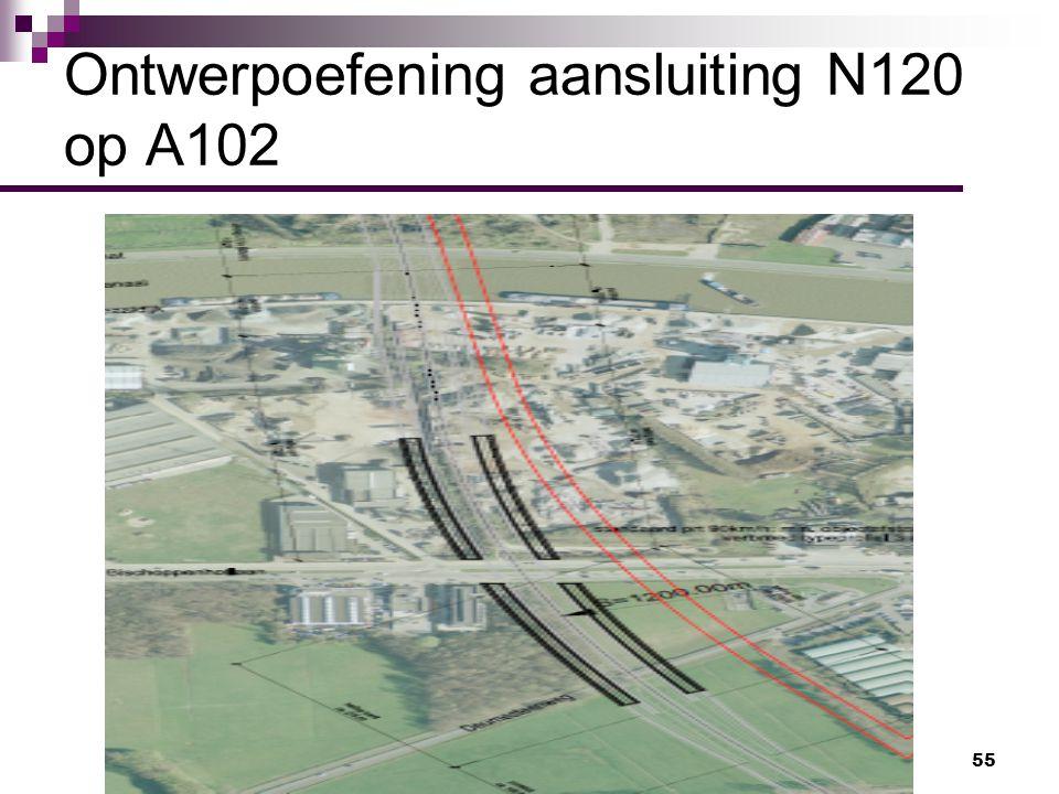 Ontwerpoefening aansluiting N120 op A102