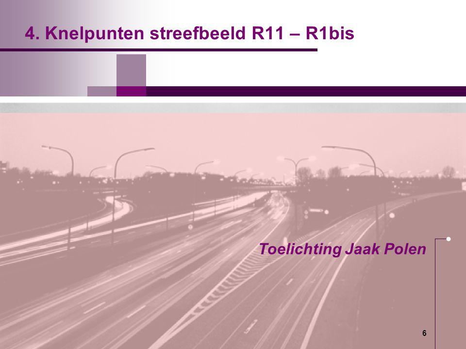 4. Knelpunten streefbeeld R11 – R1bis