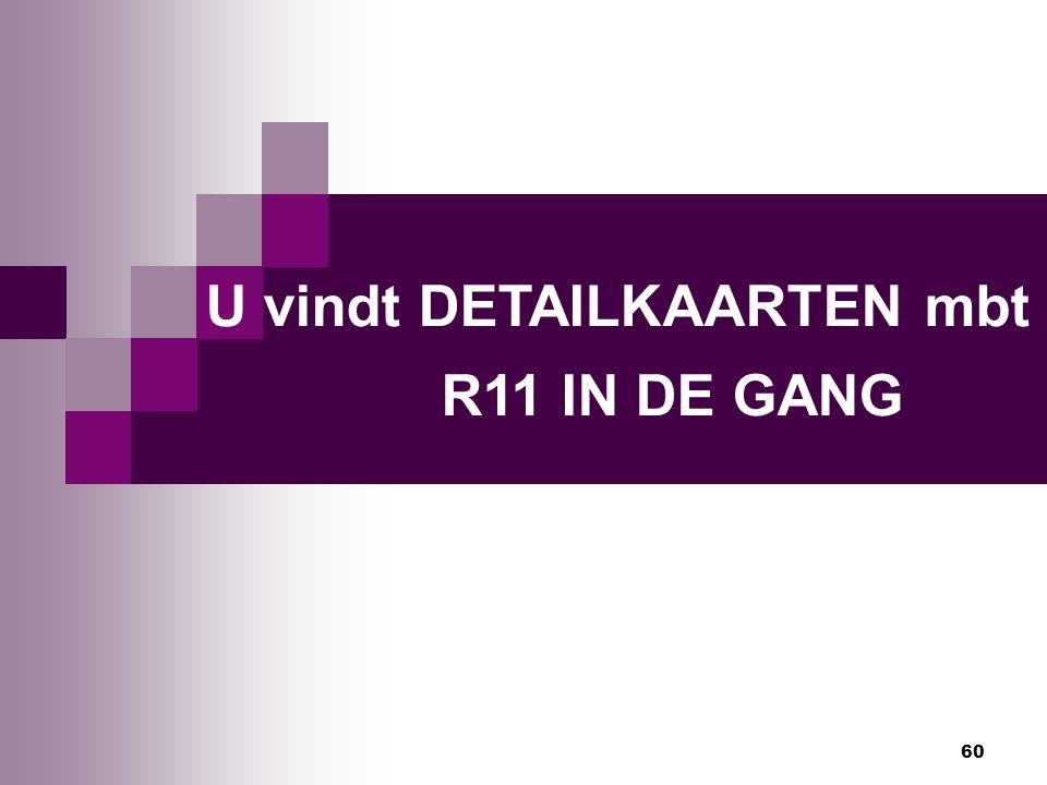 U vindt DETAILKAARTEN mbt R11 IN DE GANG