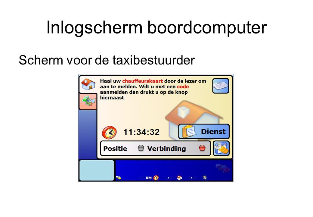 Inlogscherm boordcomputer